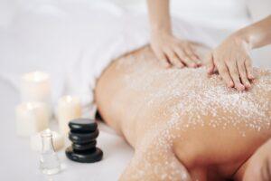Salt scrub treatment
