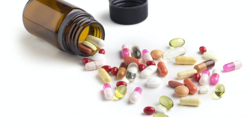 bottle of medicines