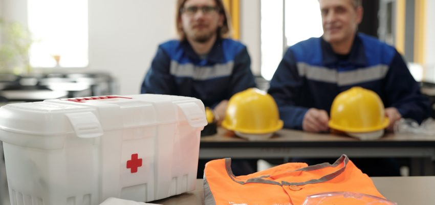First aid kit for factory workers